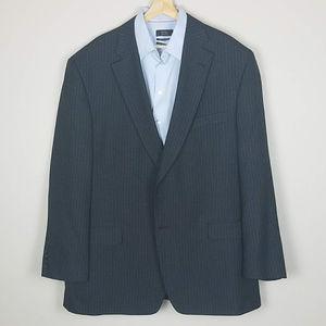 Haggar 2 pc Suit 48L Pinstripe